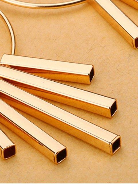 unique Bars Circle Earrings - GOLDEN  Mobile