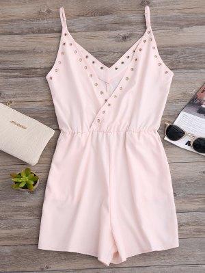 Hip Pockets Cami Beach Romper - Pink