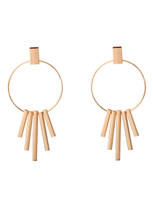 Bars Circle Earrings