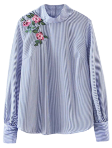Floral Striped Pullover Shirt