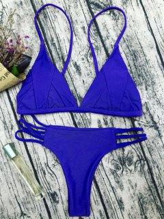 Padded Cami Bikini Set - Blue S
