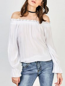 Front Knot Off The Shoulder Top