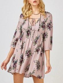 Floral Print Smock Babydoll Dress
