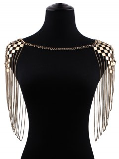 Fringed Geometric Shoulder Chain - Golden