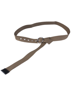 Round Pin Buckle Long Canvas Belt - Army Green
