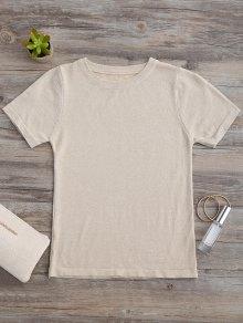 Glittered Knitting Top - Golden