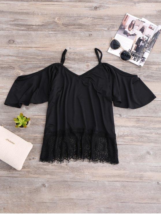 Cold Shoulder Camisole Top - BLACK M Mobile