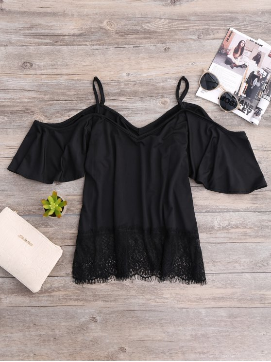 Cold Shoulder Camisole Top - BLACK S Mobile
