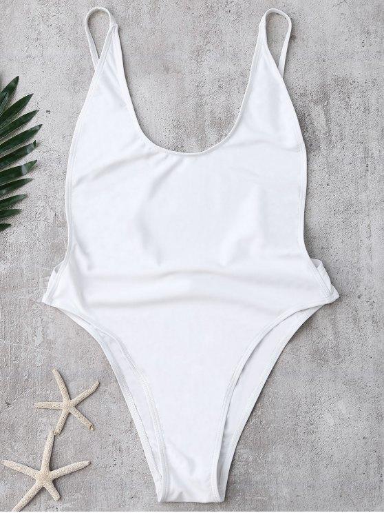 Backless High Cut maillot de bain - Blanc M