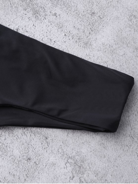 Thong Bikini Bottoms - BLACK M Mobile