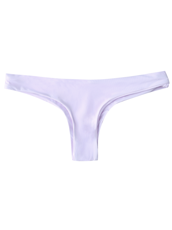 Thong Bikini Bottoms - LIGHT PURPLE L Mobile