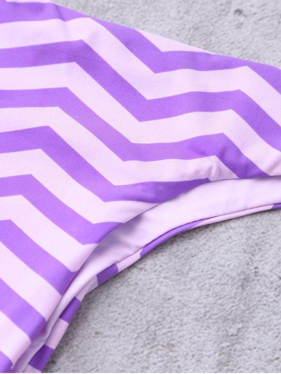 Zig Zag Thong Bikini Bottoms - STRIPE L Mobile
