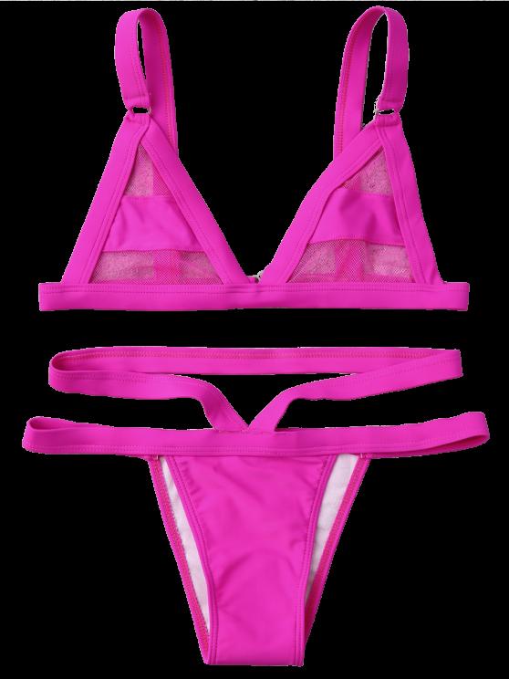 Mesh Panel Bandage Bikini - TUTTI FRUTTI S Mobile