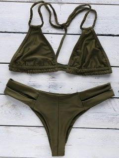 Halterneck Green Bikini Set - Green L