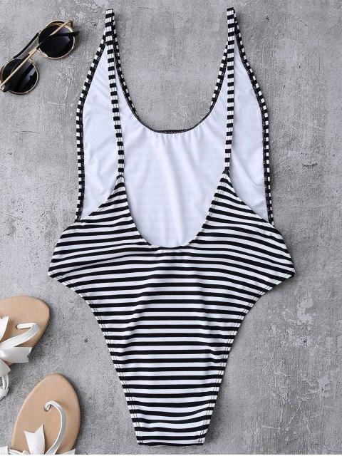 best Striped High Cut Swimwear - STRIPE M Mobile