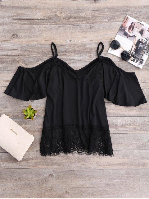 unique Cold Shoulder Camisole Top - BLACK M Mobile