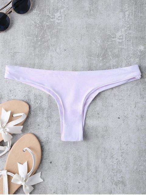 latest Thong Bikini Bottoms - LIGHT PURPLE L Mobile