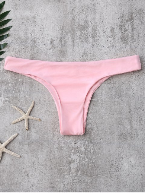 chic Thong Bikini Bottoms - PINK L Mobile