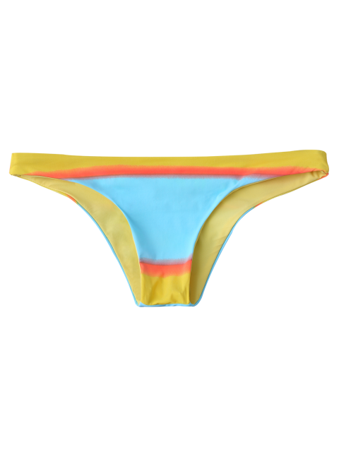 buy Color Block Thong Bikini Bottoms - COLORMIX S Mobile
