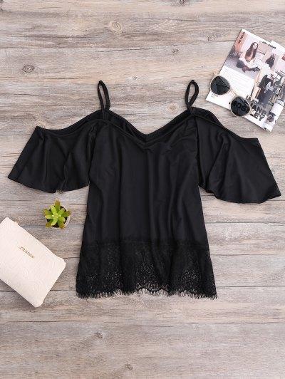 Cold Shoulder Camisole Top - Black