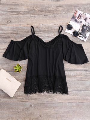 Cold Shoulder Top Camisole - Negro