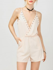 Hip Pockets Cami Beach Romper - Pink L