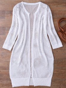 Recepción Abierta Abierta Knit Beach Cover Up - Blanco
