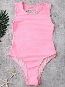 Backless High Cut Swimwear - Pink