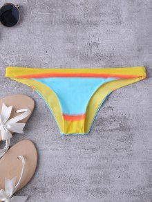 Color Block Thong Bikini Bottoms