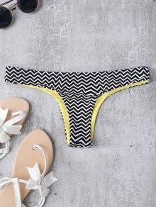 Zig Zag Thong Swim Bottoms - Stripe M