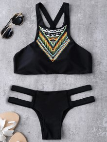 Bandage Tribal Print Bikini Set