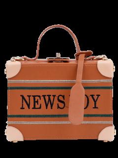 أخبار الصبي المطرزة مربع حقيبة يد - البني الفاتح