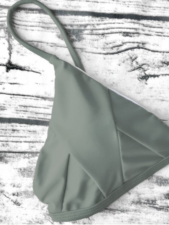 Soft Padded Cami Bikini Set - ARMY GREEN M Mobile
