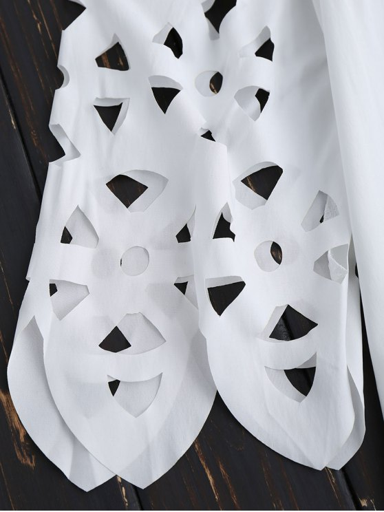 Off The Shoulder Flared Dress - WHITE S Mobile