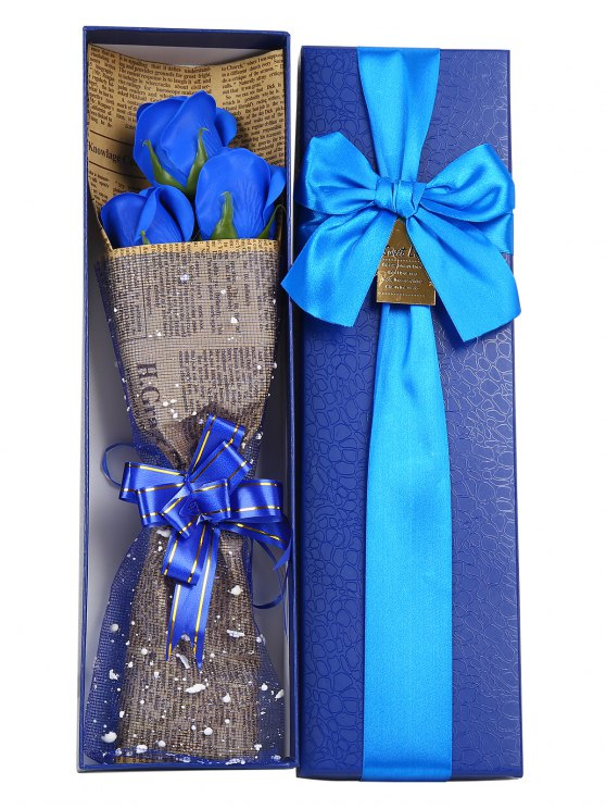 Mothers Day Gift Simulation Rose Soap Flowers Bouquet - BLUE  Mobile