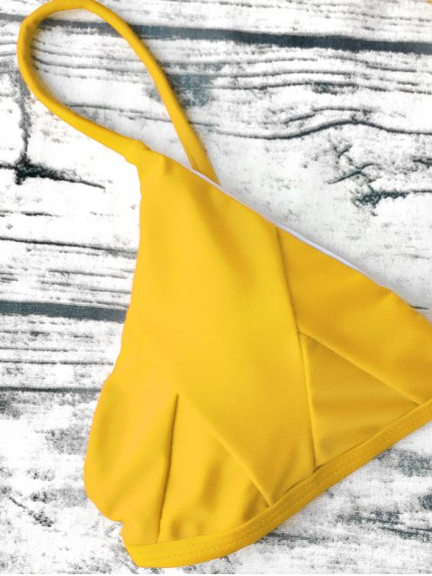 fancy Soft Padded Cami Shell Bikini Set - YELLOW L Mobile