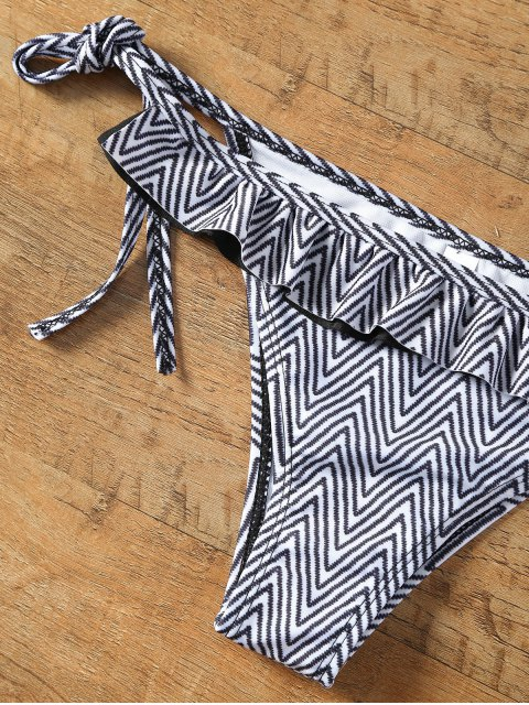 Chevron Bikini avec Flounce - Multicolore L Mobile