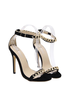 Mini Heel Chains Ankle Strap Sandals