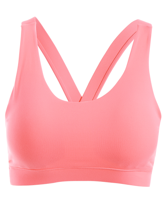 Pullover Sport Bra Sweat Top - PINK XL Mobile
