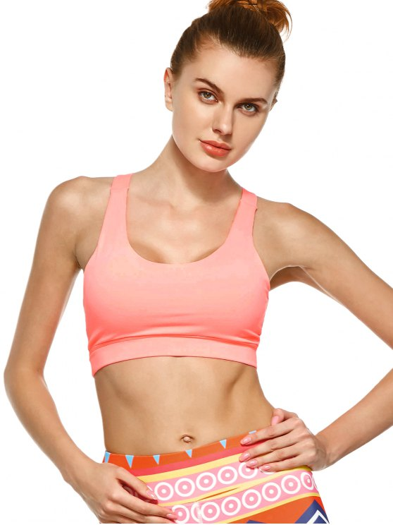 Pullover Sport Bra Sweat Top - PINK M Mobile