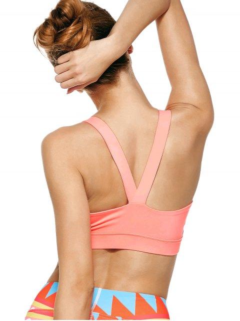 trendy Pullover Sport Bra Sweat Top - PINK L Mobile