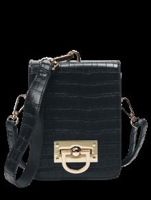 Metal Detail Mini Crossbody Wristlet Bag