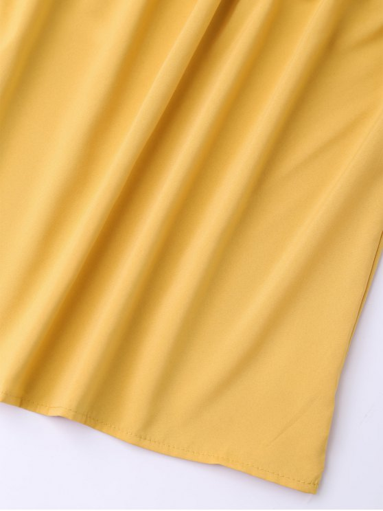 Balloon Sleeve Off The Shoulder Top - YELLOW S Mobile