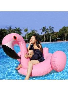 Gonflable En PVC Flamingo Shape Row Flottant - Rose PÂle