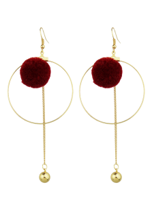 Circle Bead Ball Drop Earrings