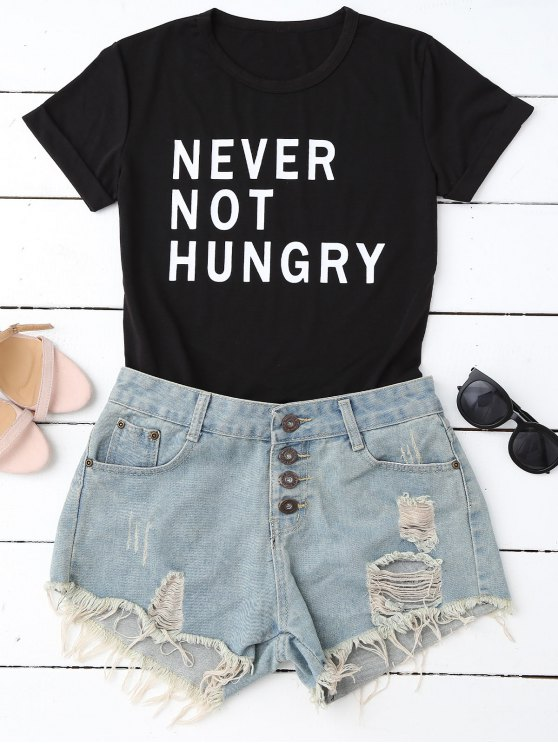 women Funny Graphic T-Shirt - BLACK S