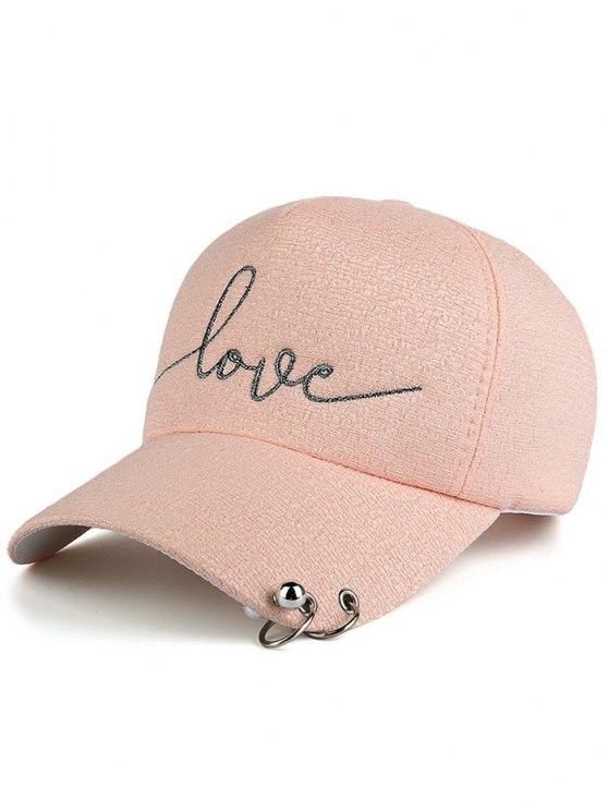 Perles lettres cercle Baseball Hat - ROSE PÂLE