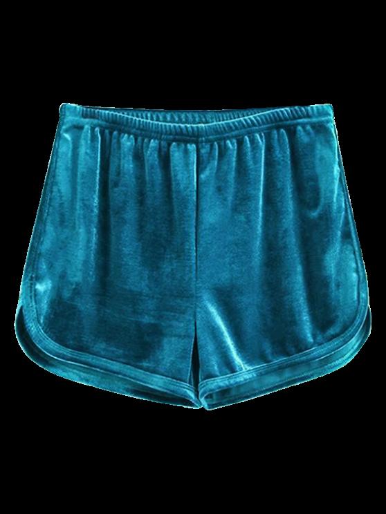 Pantalones cortos de terciopelo deportivo - Azul S