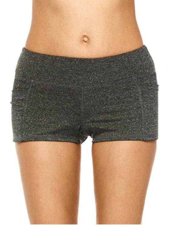 Brezo Deportes pantalones cortos con bolsillos - negro Gris XL