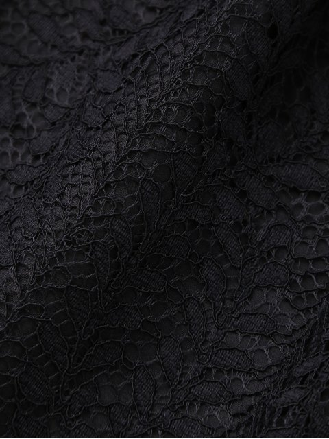 women's Layered Lace Shorts - BLACK S Mobile